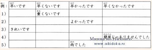 Онлайн японский язык. Урок 12 (11) - Дополнительный практикум по грамматике